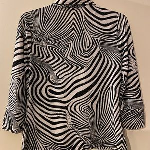 Jaipur Black and white blouse with sequins
